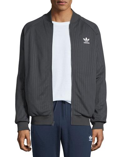 Men's Warped Stripes Reversible Track Jacket