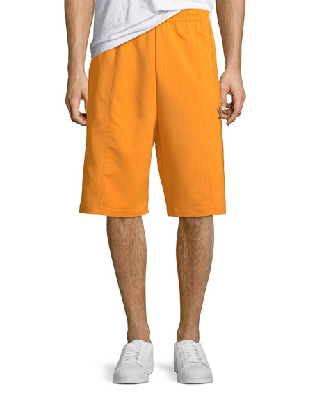 Men's Pinstriped Pintuck Shorts
