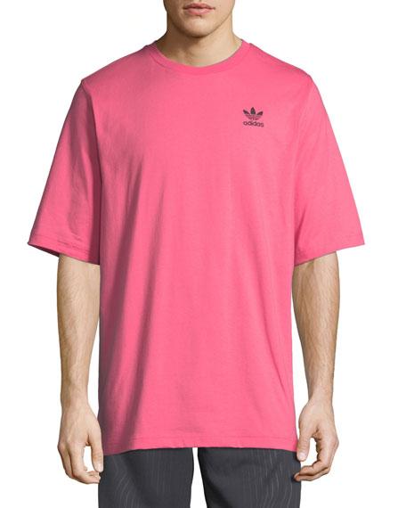 Men's Ripple Graphic Crewneck Cotton T-Shirt