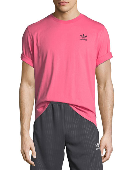 Adidas Men's Ripple Graphic Crewneck Cotton T-Shirt