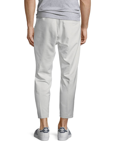 Men's Cropped Pinstripe Track Pants