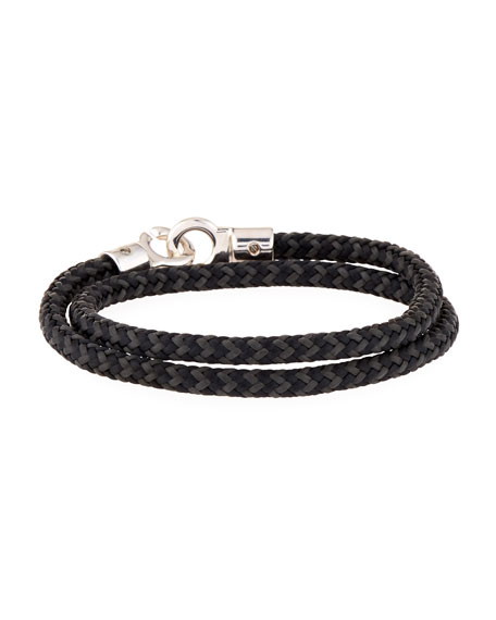 Brace Humanity Men's Double Tour Rope Wrap Bracelet,