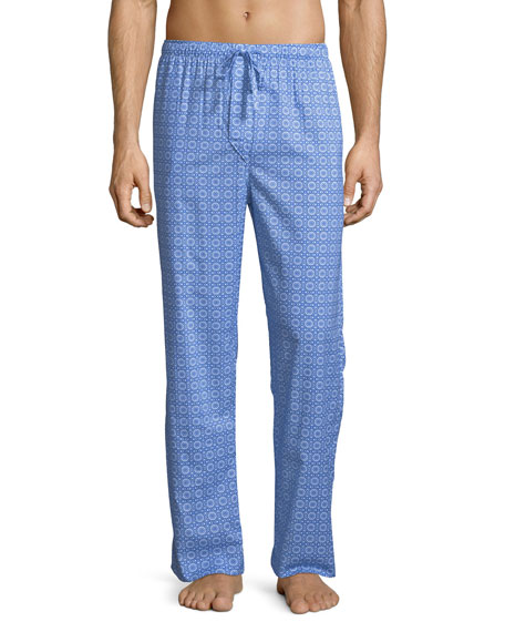Derek Rose Ledbury 5 Medallion-Pattern Cotton Lounge Pants