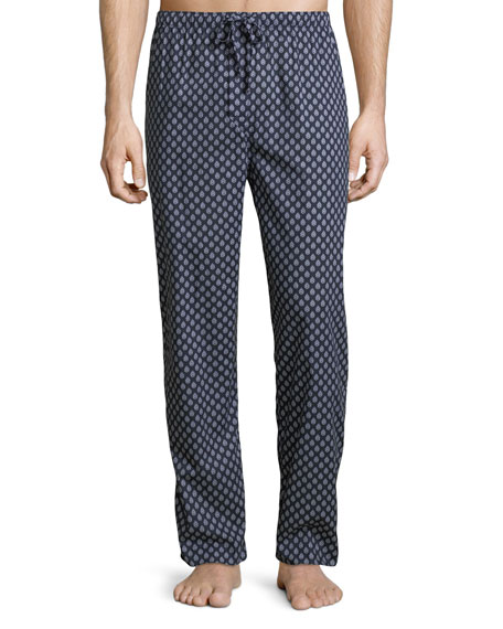 Derek Rose Nelson 64 Graphic Cotton Lounge Pants