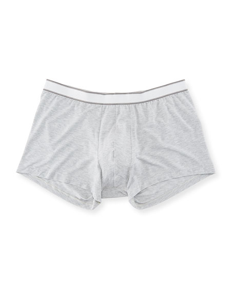 Ethan Heathered Jersey Hipster Boxer Briefs (Shorter Leg)