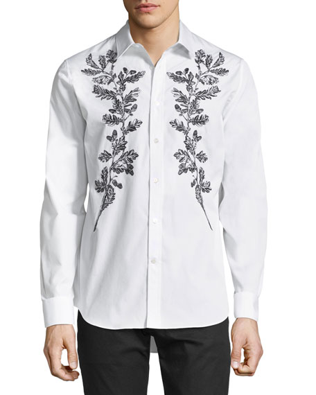 Alexander McQueen Embroidered Sport Shirt