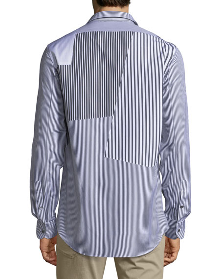 Patched Cotton Sport Shirt