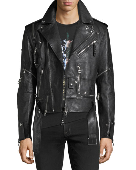 Alexander McQueen Buffalo Leather Biker Jacket