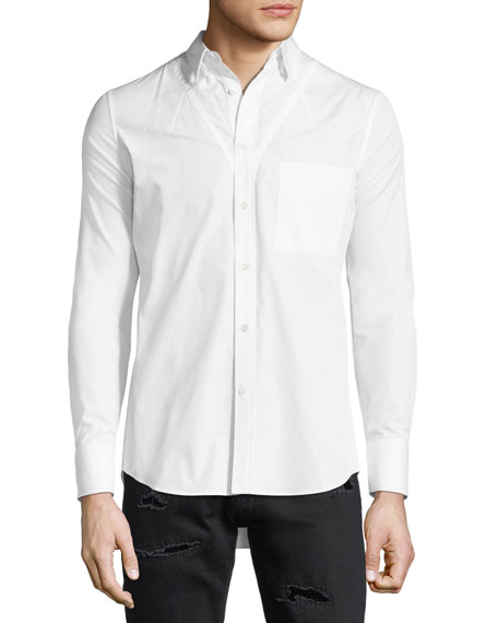Alexander McQueen Darted Cotton Sport Shirt