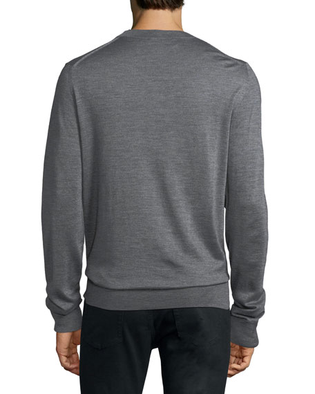 Cashmere-Blend Graphic-Detail Sweater