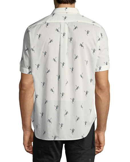Dancing Skeleton Voile Shirt