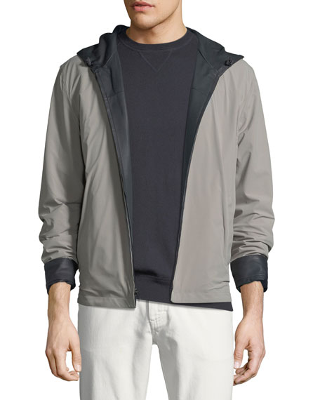 Waterfront Reversible Hooded Bomber Jacket