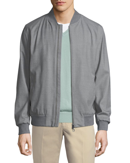 Loro Piana Techno-Wool Storm Bomber Jacket