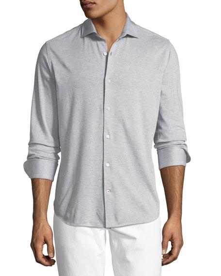 Striped Jersey Sport Shirt