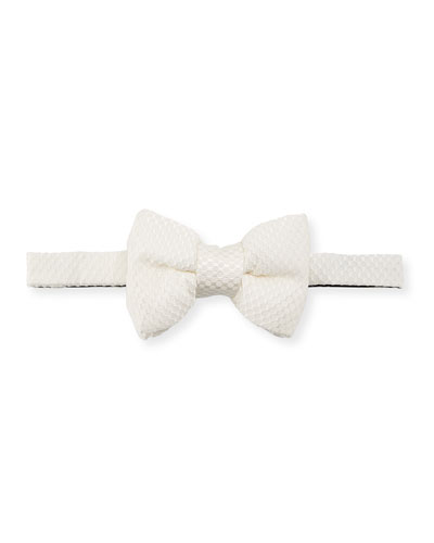 Textured Honeycomb Classic Bow Tie