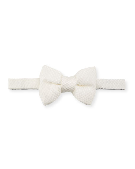 Textured Honeycomb Classic Bow Tie