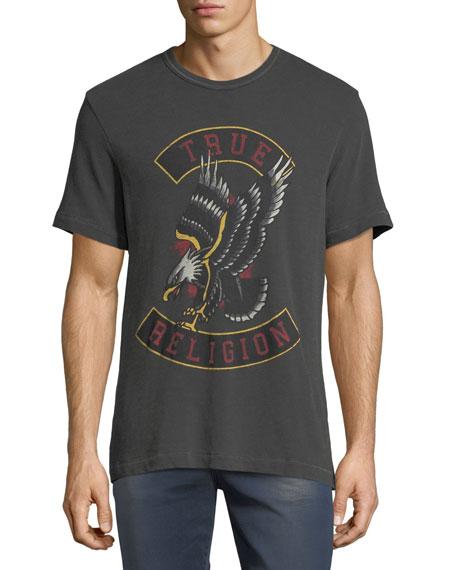 True Religion Logo Eagle Graphic T-Shirt