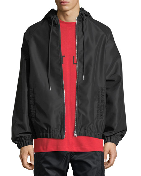 Helmut Lang Gathered-Trim Sateen Track Jacket