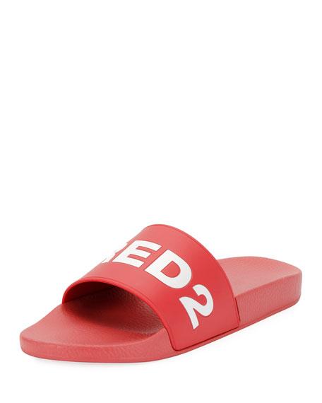 Dsquared2 Logo Slide Sandal