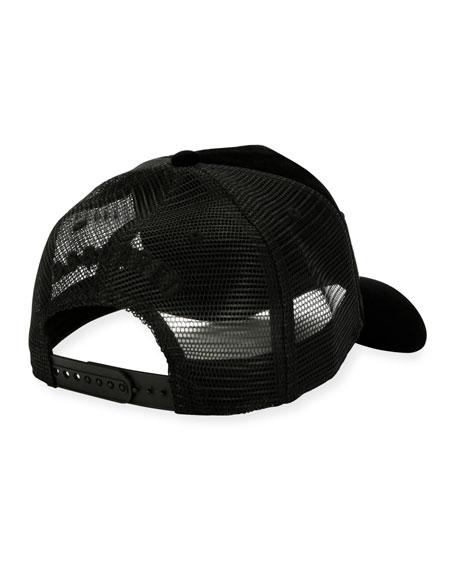 Velvet Mesh-Back Baseball Cap