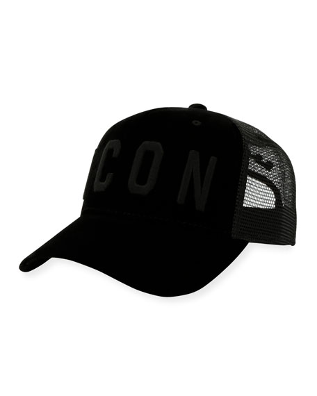 Dsquared2 Velvet Mesh-Back Baseball Cap