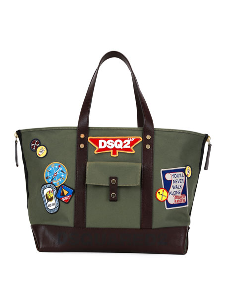 Camp Leather-Trim Patch Tote