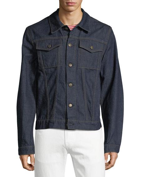 Men's Striped-Back Denim Jacket
