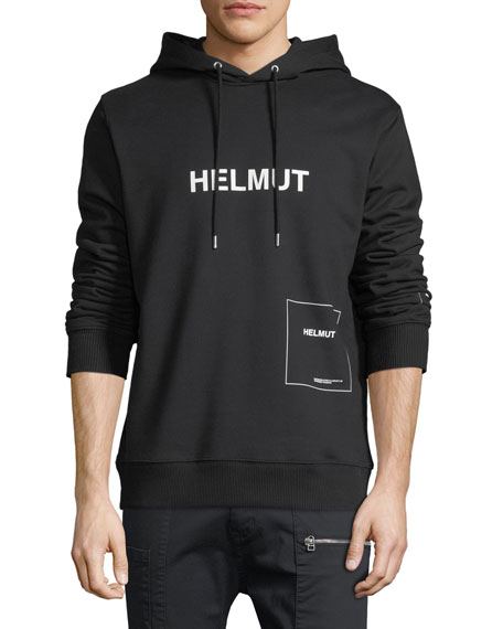 Helmut Lang Index Logo Graphic Hoodie Sweatshirt