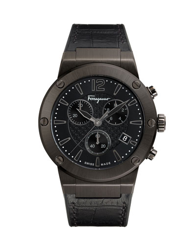 44mm F-80 Leather Watch