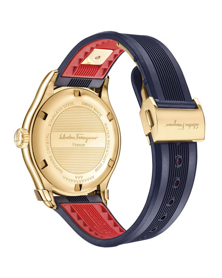 43mm 1898 Two-Tone Watch, Blue