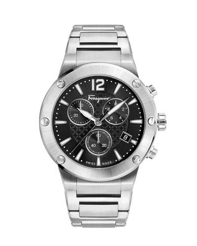 44mm F-80 Bracelet Watch, Black