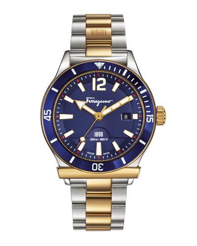 43mm 1898 Two-Tone Bracelet Watch