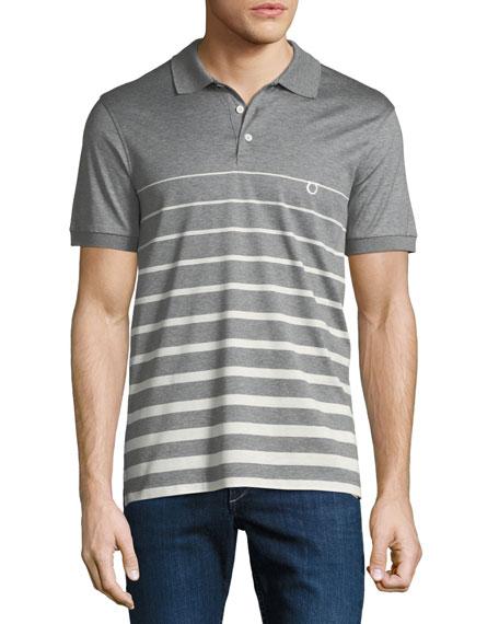 Salvatore Ferragamo Men's Horizon Striped Cotton Polo Shirt