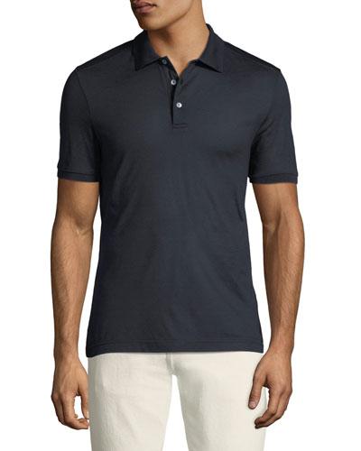 Men's Silk Polo Shirt