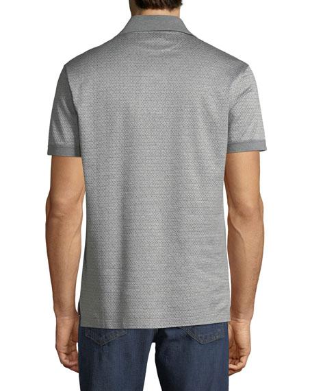 Men's Cotton Gancini-Jacquard Polo Shirt