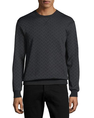 Men's Gancini-Pattern Wool-Silk Sweatshirt