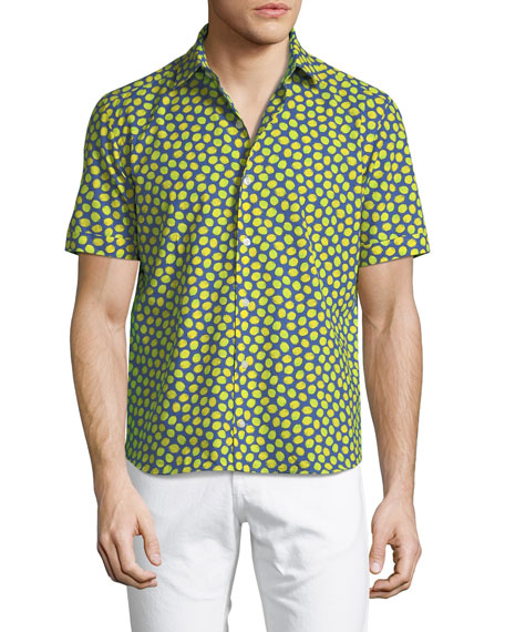 Culturata Lemon-Print Cotton Button-Down Shirt
