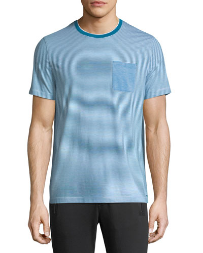 Striped Silk-Blend T-Shirt