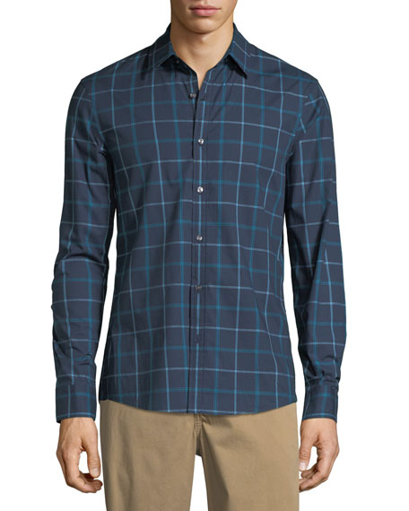 Rider Trim-Fit Checked Sport Shirt