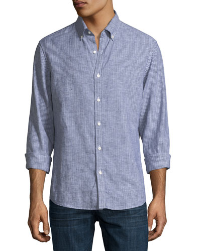 Tate Slim-Fit Striped Sport Shirt
