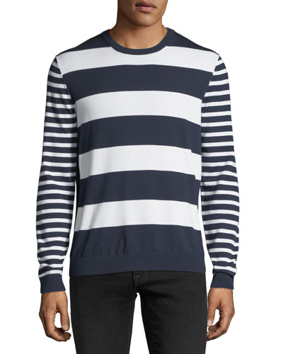 Mixed Striped Cotton Sweater