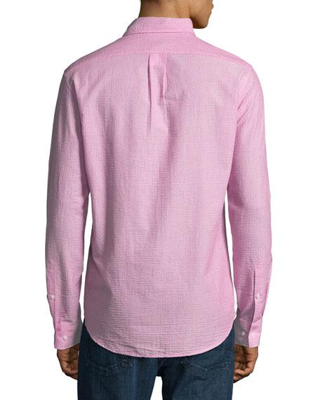 Slim-Fit Seersucker Sport Shirt