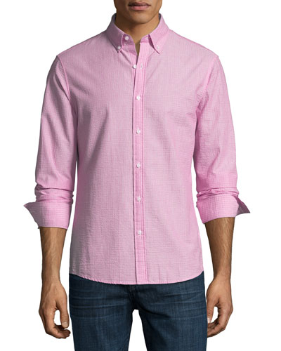 Slim-Fit Seersucker Sport Shirt