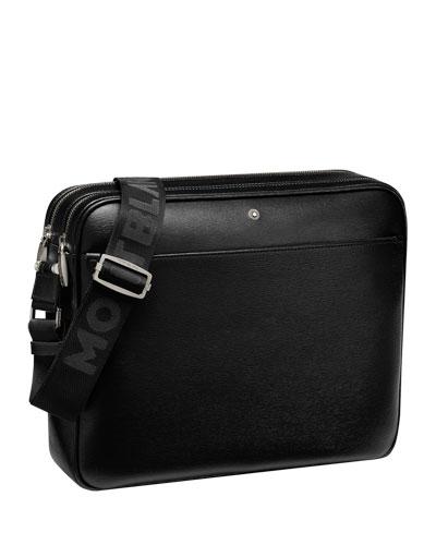 4810 Westside Zip-Top Leather Messenger Bag