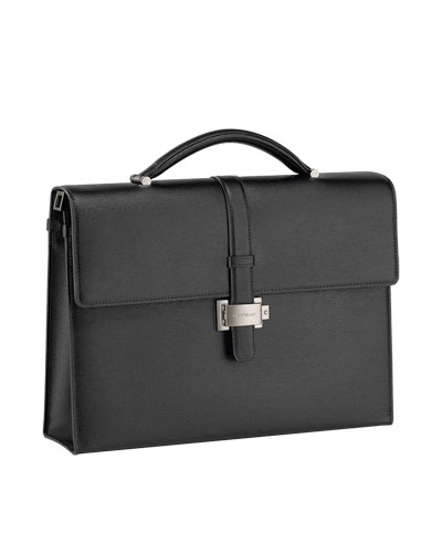 Single-Gusset Flap-Top Briefcase