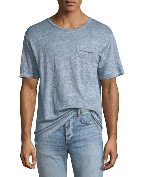 Men's Owen Over-Dyed Linen T-Shirt