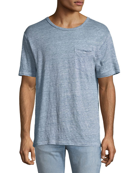 Rag & Bone Men's Owen Over-Dyed Linen T-Shirt