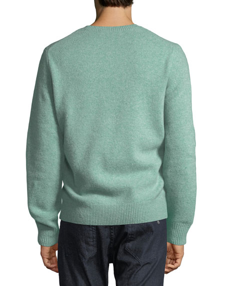 Men's Victor Wool-Cashmere Nice Day Embroidered Sweater