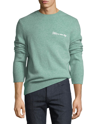 Victor Wool-Cashmere Nice Day Embroidered Sweater