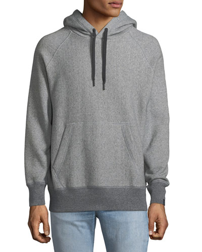 Racer Cotton Terry Cloth Hoodie